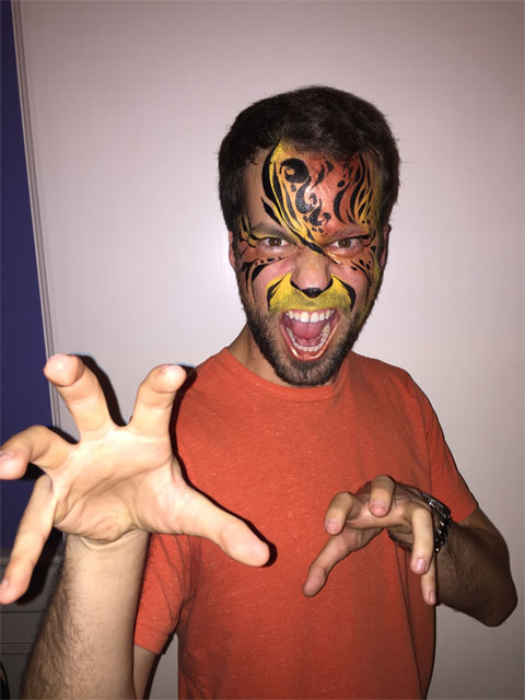 Ariel facepainted as a Tiger