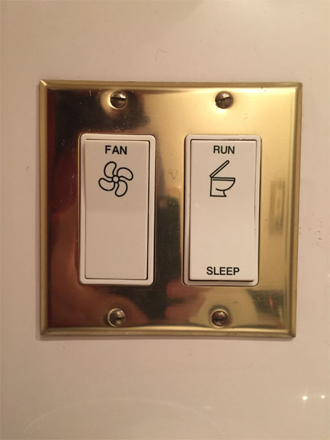 Toilet run and sleep buttons