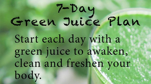 This week's free eBook: 7-Day Green Juice Plan