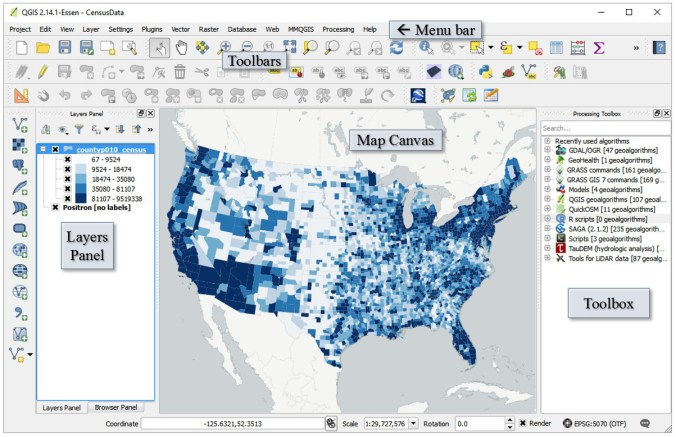 QGIS, Open Source GIS & R