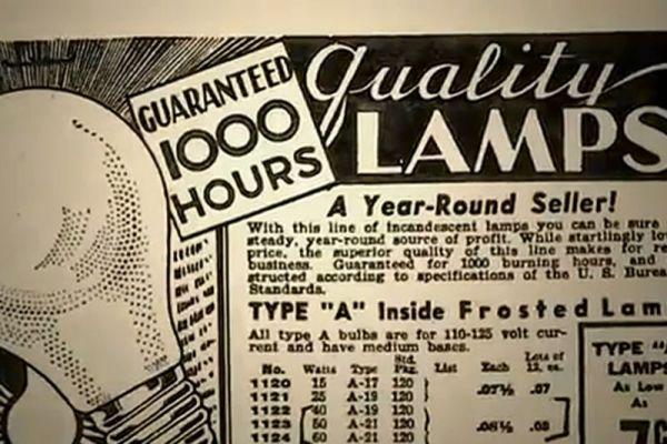 1925 ampul reklamı