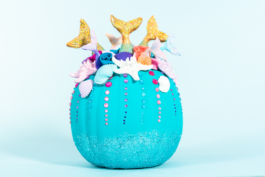 DIY Mermaid Pumpkins