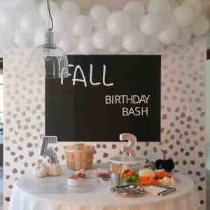 Fall Birthday Party on budget - www..arinsolangeathome.com