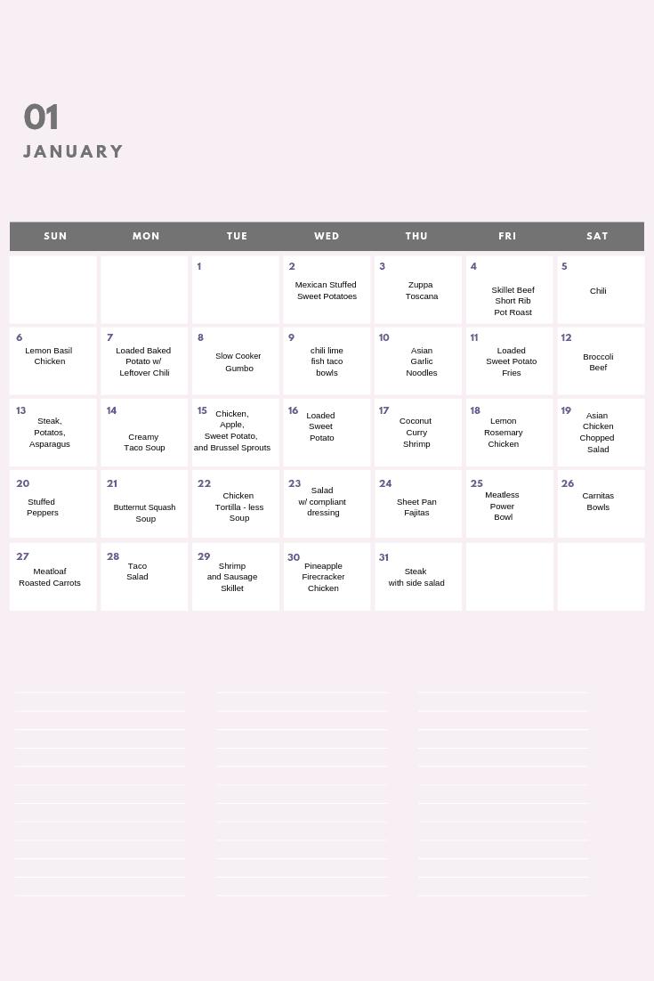 photo regarding Whole 30 Calendar Printable referred to as Totally free Printable Comprehensive 30 Calendar - arinsolangeathome