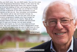 Quote from my post titled 'An Open Letter to Bernie Sanders'