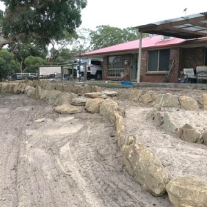 Backyard Rock Retaining Wall