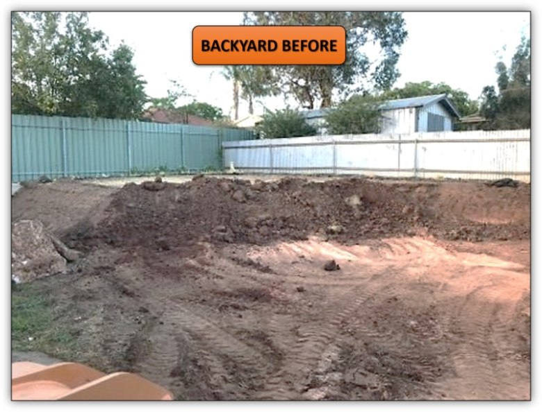 150T Backyard Dirt Removal - Earthmoving Service Northern Adelaide