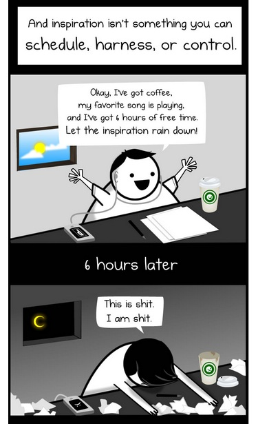 "Frame from ""The Oatmeal"" about making content for the web"