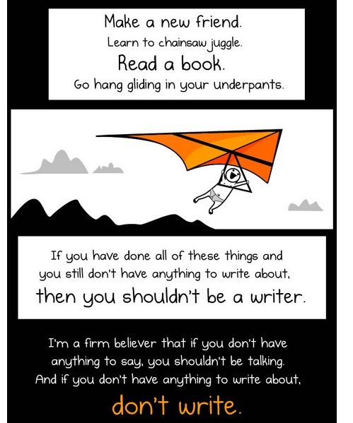 Frames from The Oatmeal's comic about making content for the internet