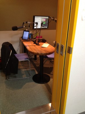 An Audio Recording Studio where language lessons are created.