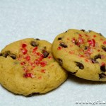 Vanilla Bean Chocolate Chip Candy Cane Cookies