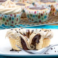 Vanilla Bean Cookie Butter Cup Cupcakes