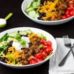 10 Minute Taco Salad: The fastest, healthiest and most delicious taco salad is ready in just 10 minutes! Tons of bold flavors in this healthy, weeknight meal.