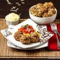 """""""Spaghetti"""" & Meatballs {gluten-free}"""