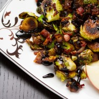 Drink & Dish: Brussels Sprouts with Apple, Bacon & Dates