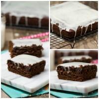 Ginger Molasses Cake with White Chocolate Glaze