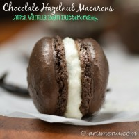 Chocolate Hazelnut Macarons {with Vanilla Bean Buttercream}: Macarons have never been easier or more delicious!