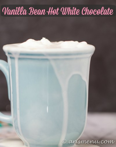 Vanilla Bean Hot White Chocolate: A silky, creamy, vegan hot white chocolate with just 3 ingredients and under 200 calories!