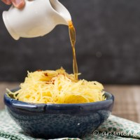 Parmesan Garlic Brown Butter Spaghetti Squash