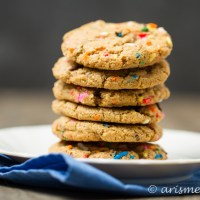 Browned Butter Funfetti Cookies