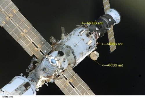 Antennes utilisées pour ARISS