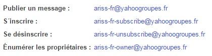 liste ARISS-F