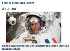 France Bleu Gard Lozere - Article ARISS 30