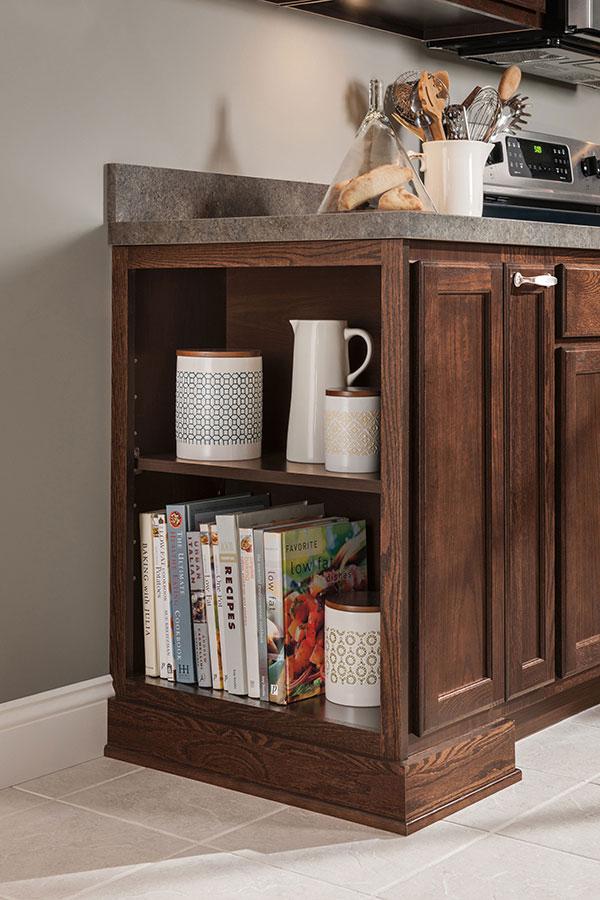 12 inch deep open base cabinet
