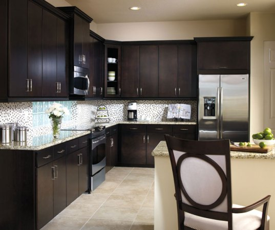 Contemporary Kitchen with Sarsaparilla Cabinets   Aristokraft Contemporary kitchen with Sarsaparilla cabinets by Aristokraft Cabinetry