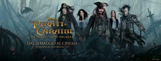Risultati immagini per pirati dei caraibi la vendetta di salazar banner
