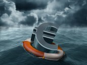 euro in storm