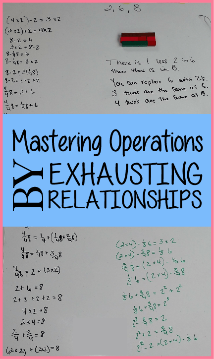 Using Gattegno and Cuisenaire Rods to master operations by exhausting relationships. #letthemlearn