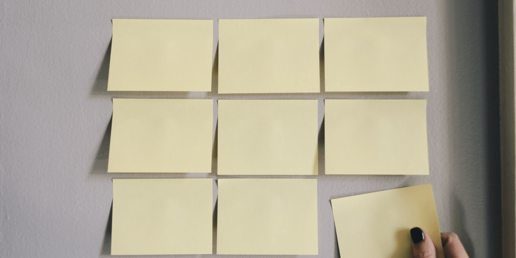 Rows of sticky notes - Putting Silence to Work