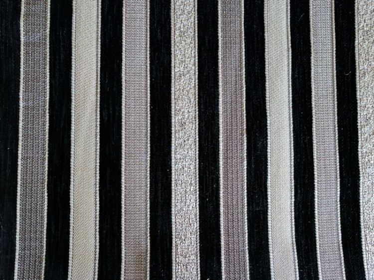 Fabric Selection - Black and white stripe