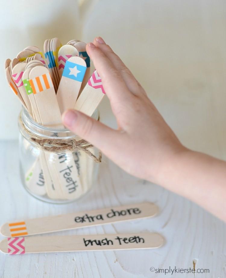 10 Cute Chore-Reward Ideas for Your Child's Room - Ice cream stick jar