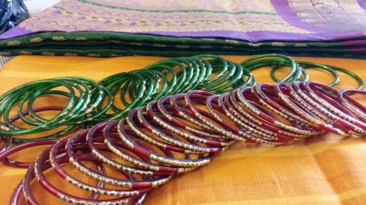 DIY Ganpati Decoration With Sarees and Bangles