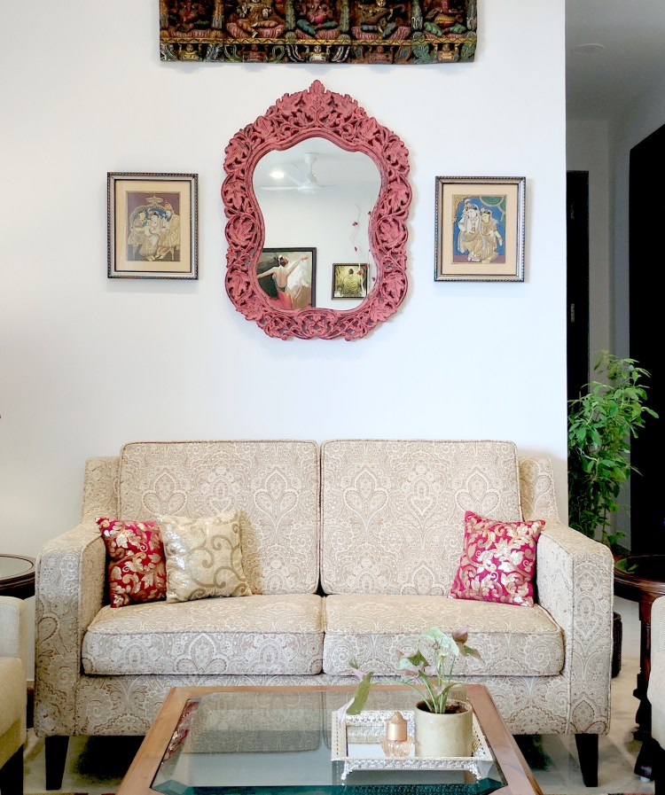 Red And Cream Living Room Reveal One Brick At A Time