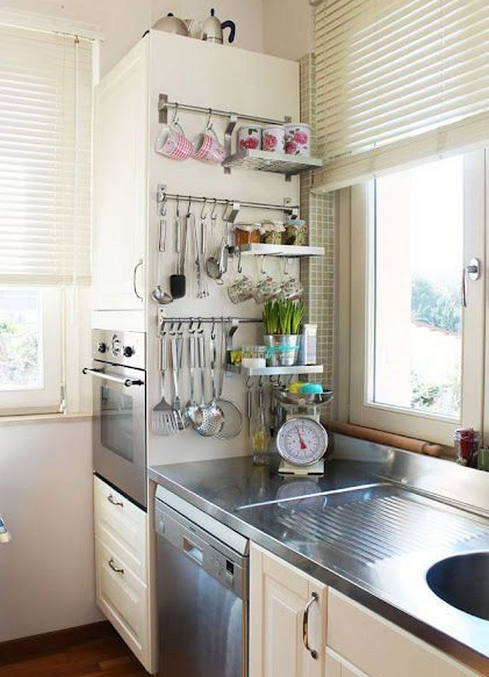 11 Ways To Make Big Space in Your Small Kitchen - On Sides of Cabinets