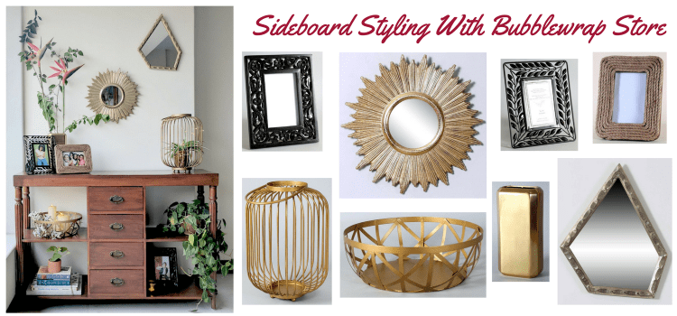 Sideboard Styling With Bubblewrap Store