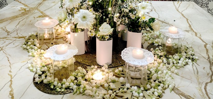 All White Summer Party Decor