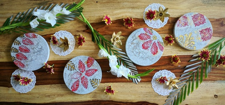 DIY Decoupage Table Coasters