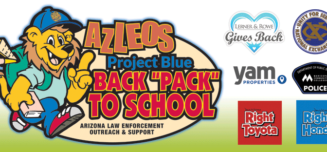 Pictures from AZLEOS Project Blue Back Pack to School 2016 Distribution Events