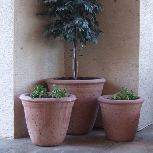 Concrete Bell Shaped Garden Planters Amp Pots American