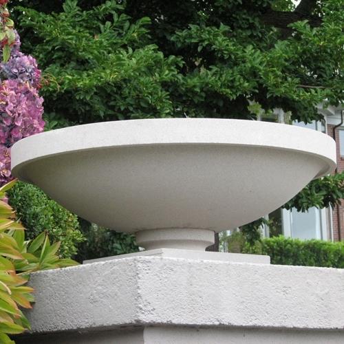 Frank Lloyd Wright Bowl Shaped Sandstone Garden Planters