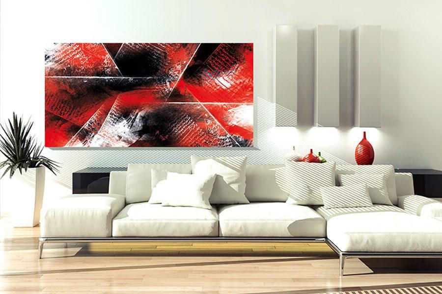 toile abstraite rouge et noir