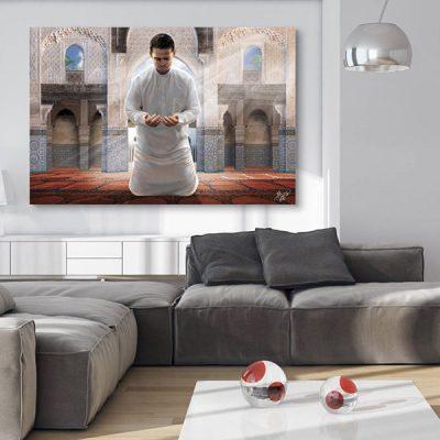 Tableau oriental musulman invocation