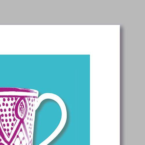 Poster oriental mug carré