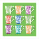 Poster oriental-mug carré-vert