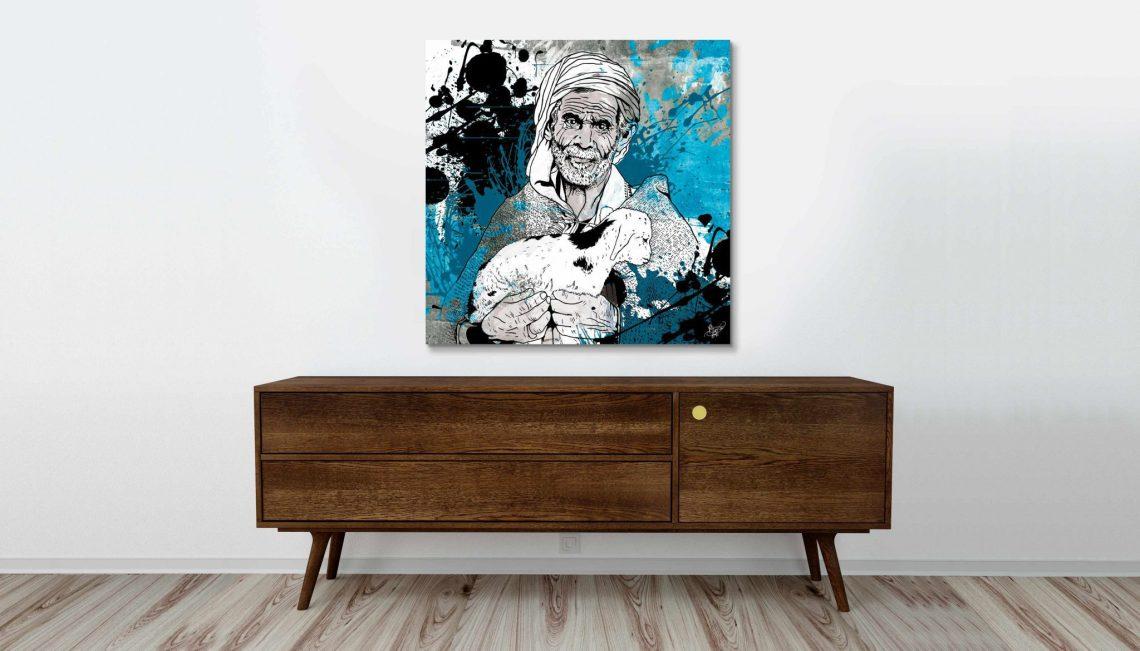 tableau oriental-le berger