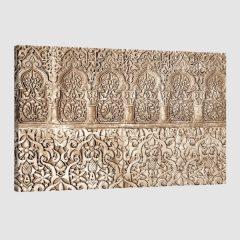Tableau oriental arabesque florale-marron